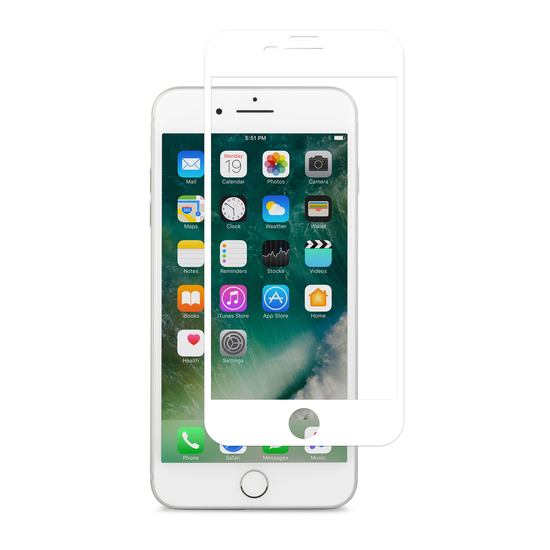 ეკრანის დამცავი Moshi IonGlass Screen Protector for iPhone 8 Plus/7 Plus (99MO096004) White