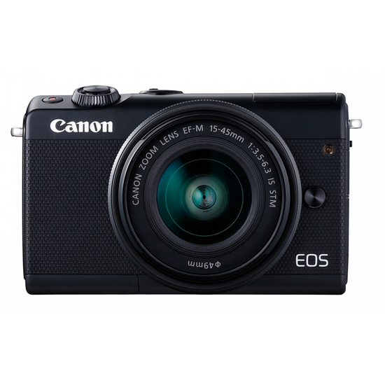 ფოტოაპარატი Canon EOS M100 Black + Lens EF-M 15-45 IS STM