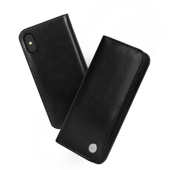 ქეისი Moshi (99MO101002) Overture Wallet Case for iPhone X - Charcoal Black